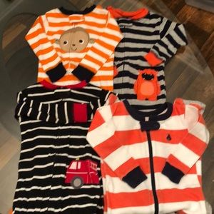 4 Carter's 12 Month Boy Sleepers